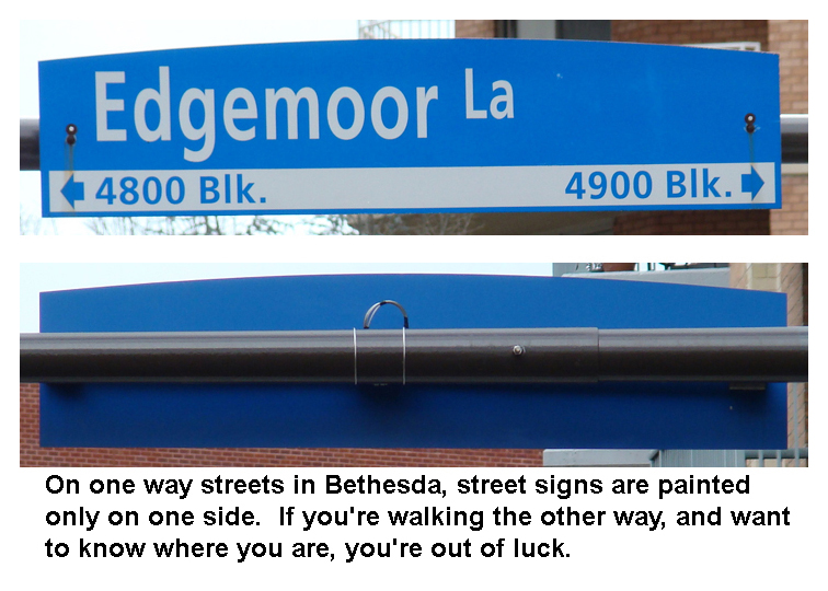 Edgemont Lane front and back of street sign