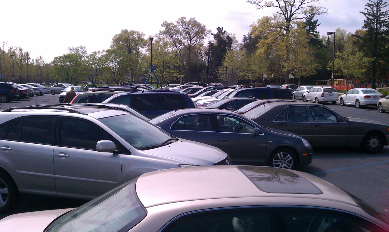 Overcrowded Parking Lot at Bethesda Farmers Market